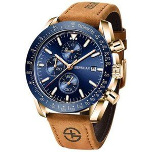 Elegant Men's Casual Leather Band Sport Watch